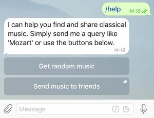 Кнопки бота music