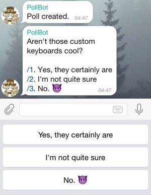 Клавиатура для бота опросов