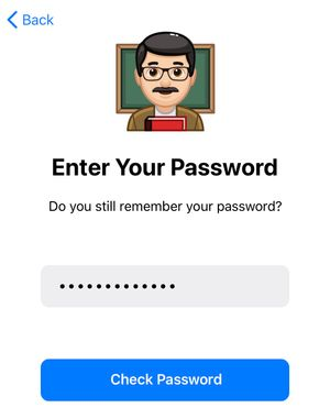 Уведомление о пароле