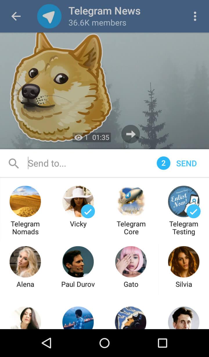 Новое меню Поделиться на Android